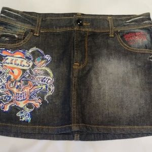 Ed Hardy Jean Denim Mini Shirt 29